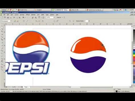 corel draw pepsi logo tutorial pepsi logo in coreldraw x4 youtube