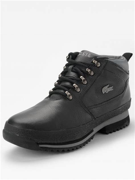 lacoste upton mens casual boots in black for lyst
