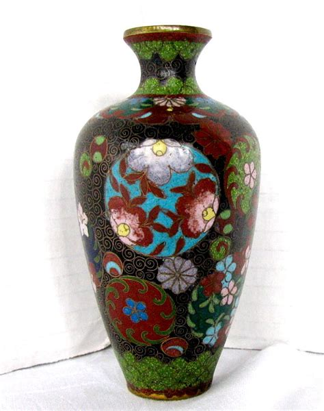 Vintage Vase by Japanese Cloisonne Vase Small Antique Meiji Era From