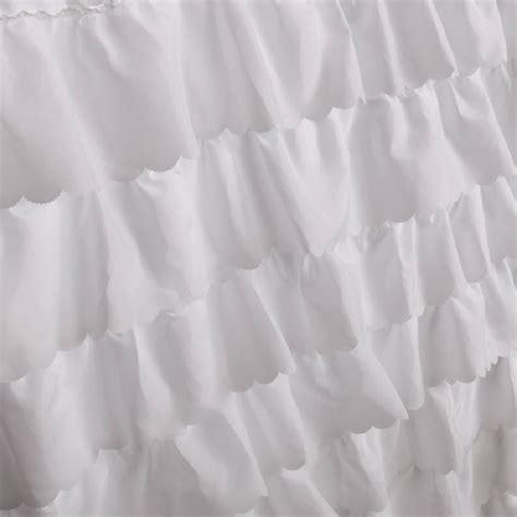 waterfall ruffle shower curtain ruffled shower curtain