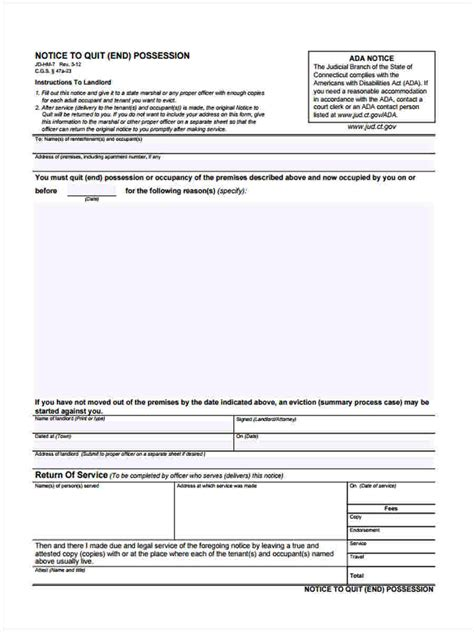 free notice forms notice to quit forms 5 free documents in word pdf