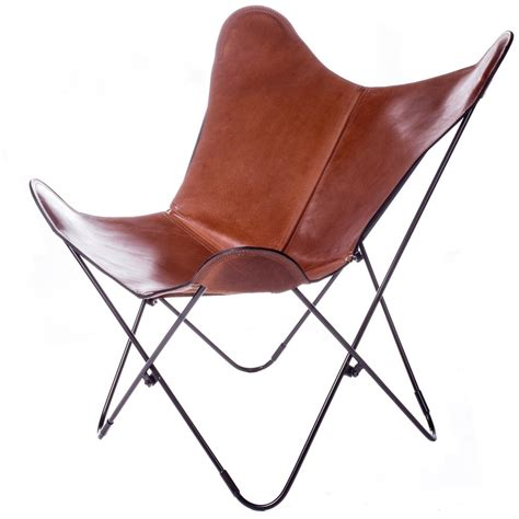 Butterfly Armchair Lookalikes Tan Leather Butterfly Chairs The Design Edit