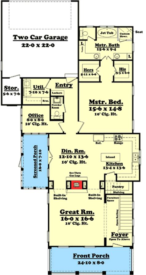 narrow corner lot house plans 3 bedroom narrow lot house plan 11775hz 1st floor master suite cad available