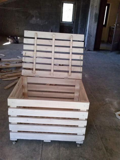 diy storage box diy wooden pallet storage box plans pallet wood projects