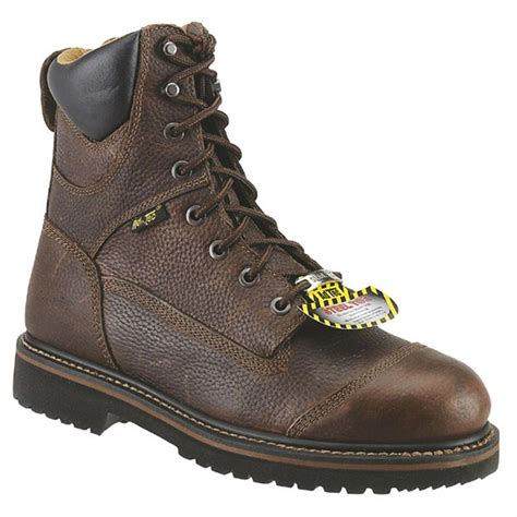 comfortable work boots for men 8 quot men s ad tec 174 steel toe comfort work boots brown
