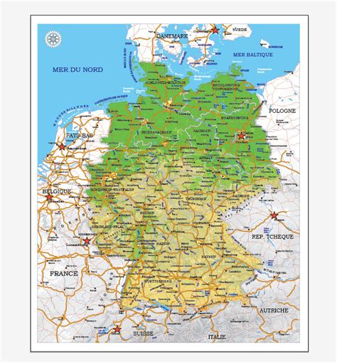 germany map printable germany printable vector map adm phys editable