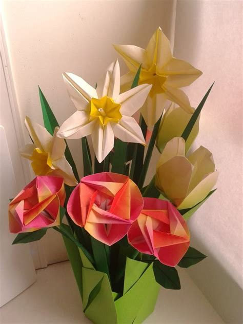 Paper Flowers Origami - origami flowers folded by me origami