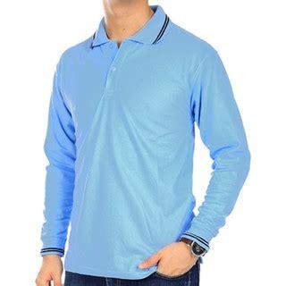 Polo Shirt Pria Lengan Panjang 8 polo polos lengan panjang navy kaos kerah polo kerah