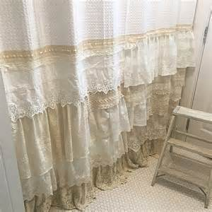 Shower Curtain Sets With Window Curtains - my bohemian bathroom with vintage lace hallstrom home