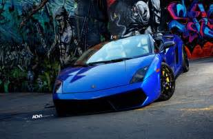 Blue Lamborghini Blue Lamborghini Gallardo Lp560 4 Spyder With Black Adv 1
