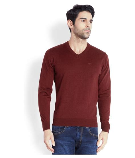Promo Vneck Maroon park avenue maroon v neck sweater buy park avenue maroon v neck sweater at best prices