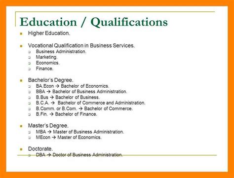 Qualifications Resume by 6 Educational Qualification In Resume Gcsemaths Revision