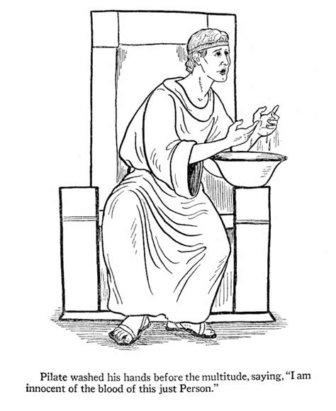 bible coloring pages for easter easter bible coloring page pilate washing his