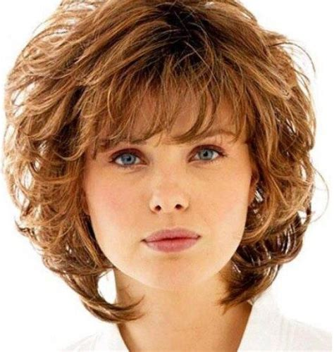 soft curl shaggy hairstyles curly shag with wispy bangs curly shag haircuts for short