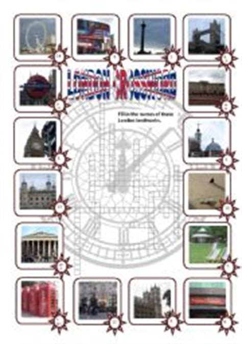 printable london puzzle english worksheets this is london worksheets page 3