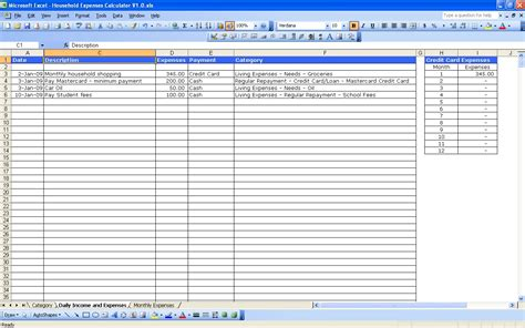 excel expense templates monthly business expense template 1 expense spreadsheet