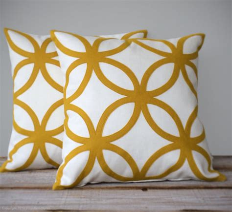 items similar to mustard yellow geometric decorative