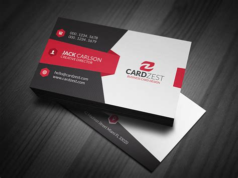 visiting card templates modern sleek corporate business card template 187 cardzest