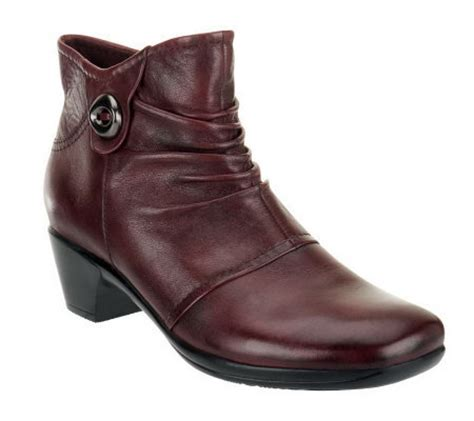 earth origins leather ankle boots mallory a235056