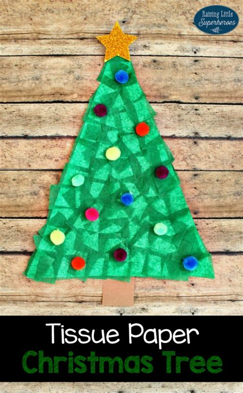 paper christmas treecraft tissue paper tree craft for