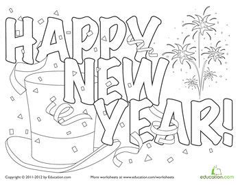 new year colouring pages preschool worksheets new year s and coloring pages on