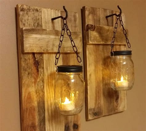 Hanging Lighting Ideas Outdoor Wall Lighting Ideas With Diy Hanging Jar Candle Holders With Wire And Reclaimed