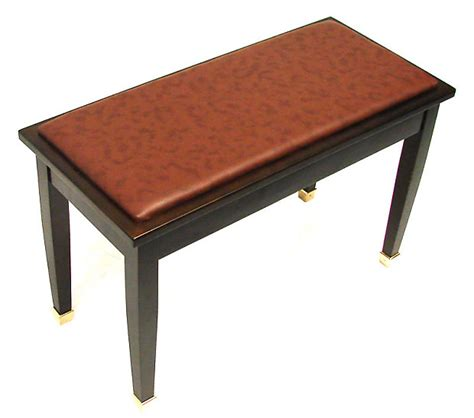 walnut piano bench frederick english duet piano bench walnut satin with brass reverb