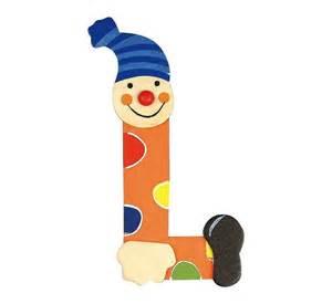 lettre alphabet b 233 b 233 en bois clown l