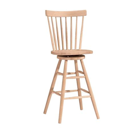 30 Wood Bar Stools by International Concepts 30 In Unfinished Wood Swivel Bar