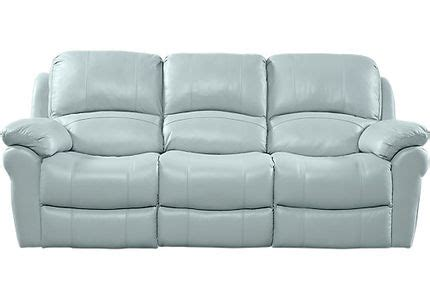 milano blue leather reclining sofa blue leather sofas couches