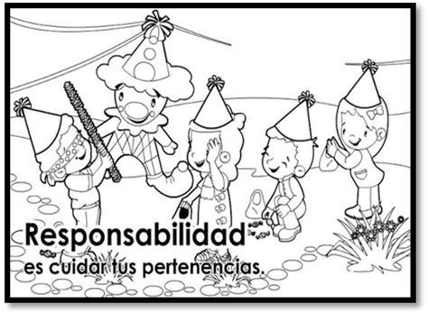 dibujos infantiles para colorear de responsabilidades valor responsabilidad para colorear www pixshark com