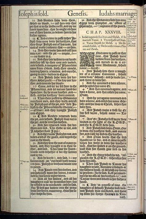 genesis chapter 38 original 1611 kjv