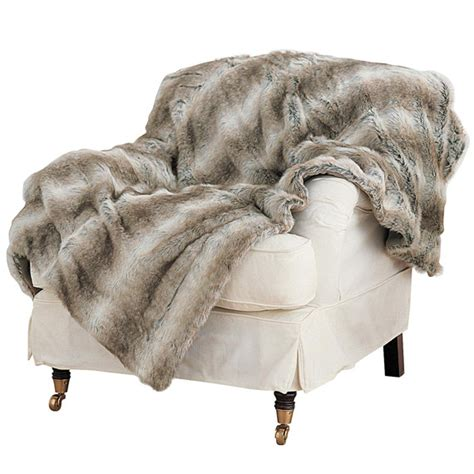 faux fur throws for sofas faux fur throw arctic fox small oka