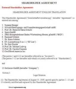 shareholders agreement template shareholder agreement sle shareholder agreement