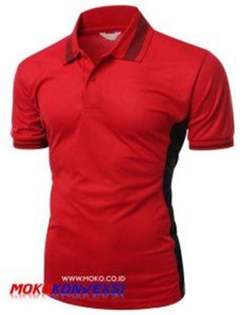 desain jersey polos desain polo shirt terbaru merah hitam katalog polo shirt