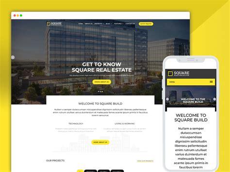 Best Bootstrap Responsive Web Design Templates 40 Ease Template Best Construction Website Templates
