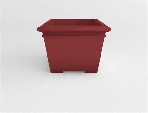 Square Planters by Plastic Square Planter Plastic Planters Site Furnishings