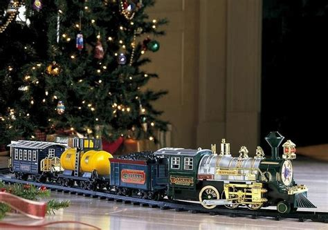 traditional christmas toy train set with sound smoke