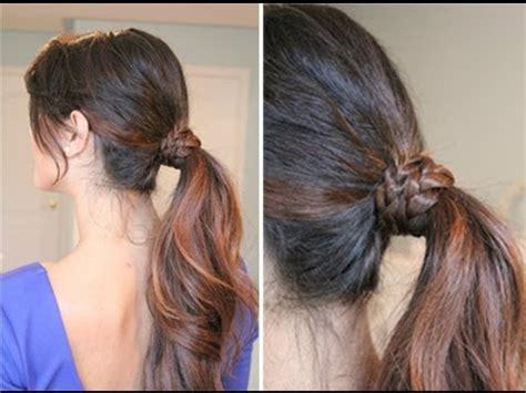 hair styles with wrap braided wrap around ponytail youtube