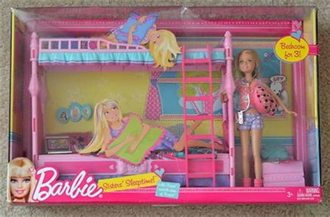 barbie bunk bed new barbie sisters sleeptime bunk beds bedroom furniture