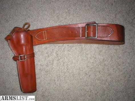armslist for sale brown leather safariland gun belt and