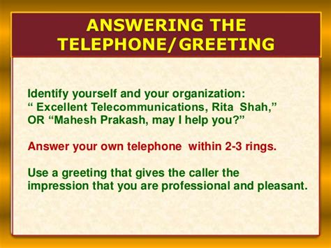 Help Desk Phone Etiquette by Office Etiquette Telephoning
