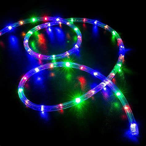 lights led 100 multi color rgb led rope light home outdoor
