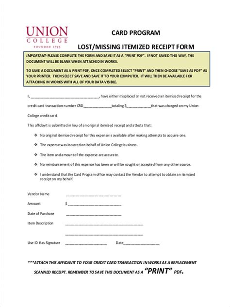 credit card receipt template pdf lost receipt forms 6 free documents in word pdf