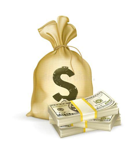 clipart soldi sacco e soldi illustrazione vettoriale illustrazione di