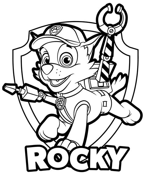 coloring pages paw patrol rocky paw patrol rocky coloring pages get coloring pages