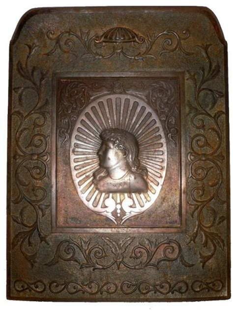 Antique Fireplace Summer Cover by Superb Antique Figural Cast Iron Summer Cover