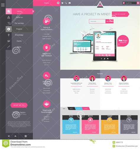 web design menu layout design of the menu for a website creative web design