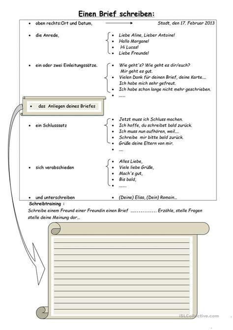 Offizieller Brief Daf einen brief schreiben arbeitsblatt kostenlose daf