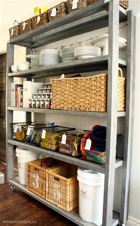 How To Start A Pantry by Rolling Kitchen Pantry Shelves